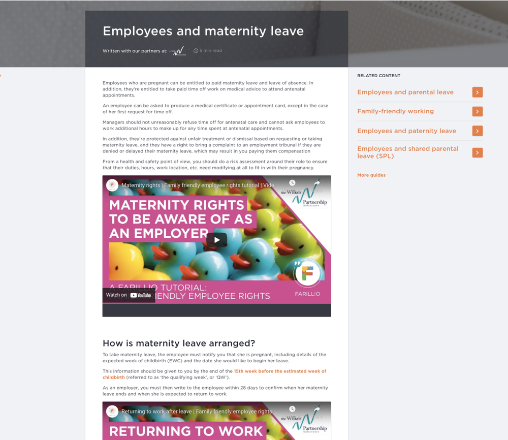 Employees and Maternity Leave